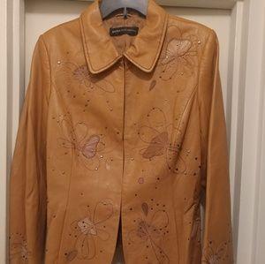 Dana Buchman Leather Jacke